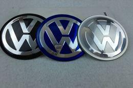 Polo gti pegatinas online-56.5mm 65mm aluminio VW Logo Rueda Hub Hub Center Caps Emblem Styling Rueda Etiqueta Para Volkswagen bora golf GTI passat polo