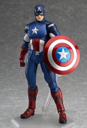 2019 führte kunststoffwaren The Avengers Captain America Figma PVC Action Figure Sammeln Modell Spielzeug 16 cm Für Kinder Anime Liebhaber als Weihnachtsgeschenk