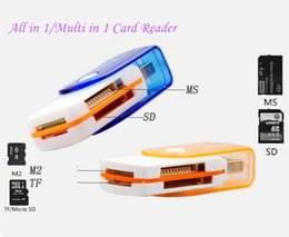 Wholesale Micro Sd Card Connector - Factory price multi card in 1 USB 2.0 adapter connector micro SD TF M2 memory stick MS Duo RS-MMC memory reader