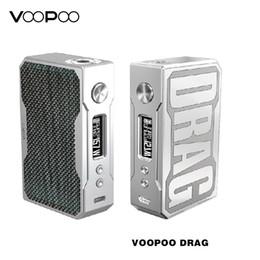 dna box Rabatt Original VOOPOO Drag 157W Mod Elektronische Zigarette Box Mod Schnelle FFit für Berserker MTL RTA / RDA E Zigarette Zerstäuber