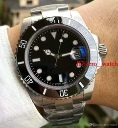 Wholesale mens watch self winding - AAA Top luxury brand Ceramic Bezel Mens Mechanical Stainless Steel Automatic Movement Watches Sports watch Self-wind Watch Wristwatches