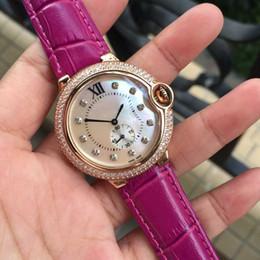 Wholesale Wife Black - Best gift for wife good quality rose gold women watches ladies leather luxury wristwatch women dress watch fashion Quartz clock