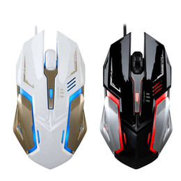 Wholesale Led Backlit Computer - Professional USB Wired Optical Gaming Mouse 1600DPI Adjustable 4 Buttons 4D Game Mouse Colorful LED Backlit for Computer
