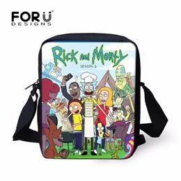 Wholesale Camel Cartoon - Wholesale Rick And Morty Crossbody Bag Mini Casual Shoulder Messenger Bags Cartoon Christmas Gifts For Kids Adult FORUDESIGNS