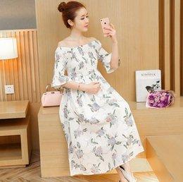 2019 gonne lunghe donne in gravidanza Abito di maternità Estate nuova moda  manica corta vestiti di 6e0526ca0ec