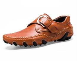 ufficio di cuoio Sconti Quattro stagioni in pelle scarpe da uomo scarpe da guida polpo scarpa versione coreana scarpe da moto stivali ufficio affari mocassini zyx019
