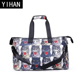 Wholesale Digital Print Handbags - wholesale brand package personalized digital 3D printing handbag fashion animal stamp travel bag high quality 3D printing outdoor travel bag
