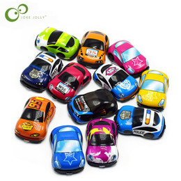 Wholesale funny cute baby boy - 10pcs lot Baby Toys Cute Plastic Pull Back Cars Toy Cars for Child Wheels Mini Car Model Funny Kids Toys for Boys GYH