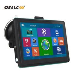 Wholesale Navigator Europe - Dealcoo 7 inch HD Car GPS Navigation FM Bluetooth AVIN Map Free Upgrade Navitel Europe Sat nav Truck gps navigators automobile