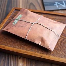 Wholesale Vintage Kraft Envelopes - Wholesale- (10 pieces lot) Vintage Envelop Antique Postcards Letter Kraft Paper Envelope Wax Envelopes DIY Paper Stamp Envelopes