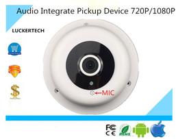 Wholesale Dome Camera Audio - Luckertech IP Audio Dome Camera Integrate Pickup Device 720P 1080P CCTV Security ONVIF P2P Remote Survillance
