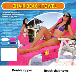 Wholesale Fiber Shops - 73*210CM Microfiber Beach Chair Towel Lounge Chair Cover Shop Towel Sun Lounger Bed Vacation Garden Quick Dry Beach Bath Towel