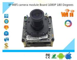 Wholesale Mini Wireless Camera Board - IP Wireless WIFI 1080P Camera Module Board Panorama View 180 Degrees Support 32G Mini SD Card Two-Way Audio IRC Alarm Security