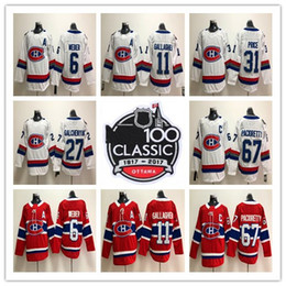 Wholesale Montreal Price - 2018 Montreal Canadiens 100 Classic 31 Carey Price 6 Shea Weber 92 Jonathan Drouin 67 Max Pacioretty 11 Brendan Gallagher hockey Jerseys