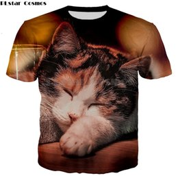 plus size promotion t shirts Coupons - Famous cartoon cute cat pattern tops tees for women men plus size summer Shirt short sleeve fashion t-shirt promotion sale