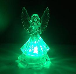Canada 100 pcs Romantique LED Coloré Évolution des Lumières Transparent Ange Lumière Nuit Lampe Enfants Cadeau D'anniversaire Décoration De Partie Offre