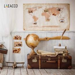 Laeacco vol monde voyage rêve bébé chambre scène fond de photographie personnalisé décors photographiques pour photo studio ? partir de fabricateur