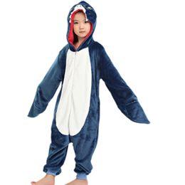 Пижамы детские животные онлайн-Новые дети ребенок унисекс акула onesies костюм девушки мальчики животных косплей пижамы пижамы пижамы партия Хэллоуин пижамы Y1891203
