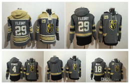 Wholesale Full Hoodies - Vegas Golden Knights Marc-Andre Fleury hockey Jersey Hoodie Pullover James Neal Clayton Stoner Sweatshirts Winter Jacket 100% Stitched