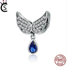 f5985d3c6 Hot Sale Authentic 925 Sterling Silver Angel Wings Feather Pendant Charm  fit Women Bracelet amp Necklace Jewelry