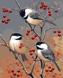 2019 пейзаж Diy картина маслом по номерам для взрослых начинающих птиц живопись комплект на холсте с акриловыми пигментами расписанные вручную для гостиной украшения