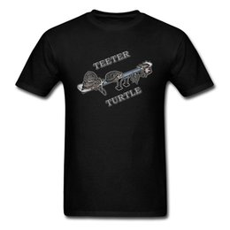 camisas cuello tortuga hombres Rebajas O cuello Teeter Turtle 2 100% tela de algodón Top de los hombres Camisetas Diseño de manga corta Tops Camiseta Últimas camisetas ocasionales