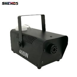 Máquina de niebla etapa online-Mini 400W RGB 3IN1 máquina de niebla Bomba de control remoto DJ Disco Máquina de humo para fiesta Boda Navidad Etapa Fogger Machine DMX Stage