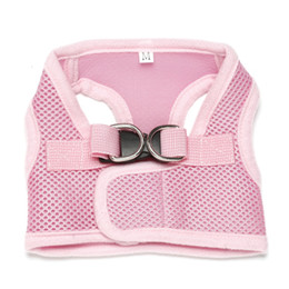 Wholesale Dogs Clothes Harness - Dog Comfort Vest Harness Leash XS S M L XL Mesh Breathable Chihuahua Clothes
