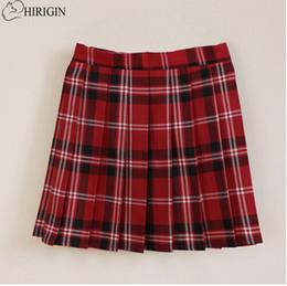Wholesale Women S School Girl Skirt - High quality school uniform skirt fashion plaid short skirt pleated cotton women girls casual Japanese preppy mini