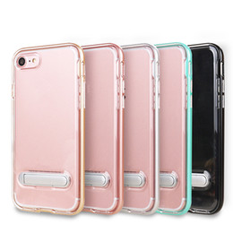 Wholesale Sgp Cases - Fashion SGP Hybrid 2 in 1 Clear Soft TPU PC bumper Transparent Case Cover with Stand Holder for iPhone X 8 7plus for Samsung S9
