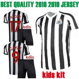 Wholesale boys shirts sale - new 2018 best quality Newcastle United kids kit home Soccer Jersey 18 19 Newcastle United children football shirt 2018 2019 Sales