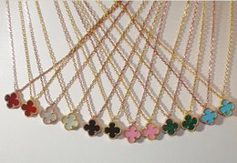 Wholesale Genuine Gold Leaf - High version,925 Sterling Silver Necklace with VCA jewelry,Clover Necklace Four Leaf Flower Agate Shell Pendant,Genuine necklace buttons
