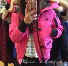 Wholesale Ladies Long Blue Coat - Winter Bomber Parkas Women 37 Down Brand Designer Parka Hoodies Zippers Logos Ladies Jackets Warm Female Coats Cheap