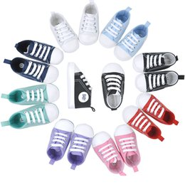 Wholesale Child Moccasins - Fashion Newborn Shoes Anti-Slip Baby Boy First Walker Bebe Girls Sneakers Moccasin Canvas Children Plimsolls Infant Boots Soft Prewalkers