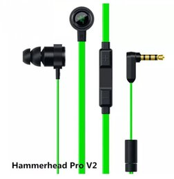 Wholesale Pro Earphones - Earphones Earbuds Razer Hammerhead Pro With Microphone With Gaming Noise Isolation Stereo Bass 3.5mm For samsung