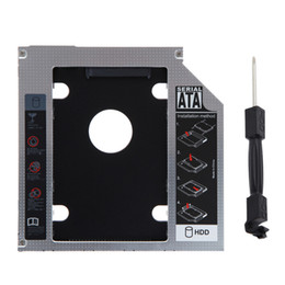 Wholesale External Caddy - Universal 2.5 inch 12.7mm External Optical DVD Bay Adapter Aluminum SATA HDD SSD Hard Drive Caddy Hard Drive Bay for Notebook