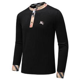 Argentina Venta al por mayor nuevo más vendido de gama alta de moda casual cuello redondo de los hombres suéter polo marca 100% algodón suéter de los hombres suéter envío gratis A12 Suministro