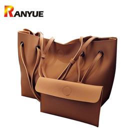 Wholesale Large Light Pink Leather Handbag - Ranyue 2 Set Women Composite Bag High Quality Pu Leather Shoulder Bag Large Capacity Tote Bags For Women Handbags Bolsa Feminina