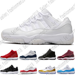quality design f9ffd a7421 Nike Air Max Jordan Großhandel 11 Prom Night Gym Red Midnight Navy Schwarz  Stingray Gezüchtet Concord Space Jam Schuhe 11s Mens Womens Kinder  Basketball ...