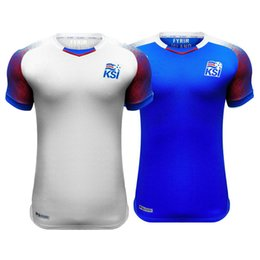Wholesale Island Shirts - Iceland 2018 World Cup jerseys home away SIGURDSSON SIGTHORSSON top quality soccer jerseys 18 19 Iceland island national football shirts