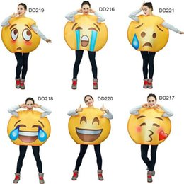 costumes de science fiction Promotion 2018 Unisexe Drôle Emoji Costumes Série De Visages Combinaison Cartoon Emoji Costume Mascot Costumes Pour Adultes Performance