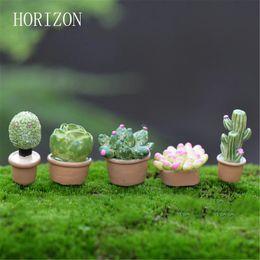5pcs / Lot pianta fai da te resina Fairy Garden Craft decorazione in miniatura Micro Gnome Terrario regalo da