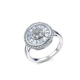 anel de swarovski de prata esterlina 925 Desconto Europeu 925 Sterling Silver Feminino Cristal de Swarovski Simples Luxo anel de safira Casal anel de moda jóias jóias Y18102610