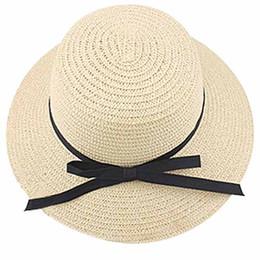 TOP Exquisito Bowknot Negro Decorado Plegable Sombrero de Sol de Color  Sólido para Las Mujeres sombrero de sol de decoración outlet 6693fcfe4f1d