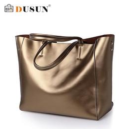 Wholesale Vintage Dress Shops - Wholesale- DUSUN Brand Women Bag Genuine Leather Women Handbags Large Capacity Shopping Bags Shoulder Bags Vintage Bag Bolsas femininas