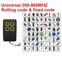 copiar código remoto Desconto 2018 novo 2 PCS Multi frequência universal rolling code transmissor cópia remota 280-868 MHz