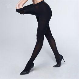 Mulheres calças de inverno mais tamanho on-line-5 pcs Plus Size 120D Outono e Inverno Quente Stretchy Collants Meia-calça para As Mulheres Elásticas Confortáveis Calças Tamanho Grande