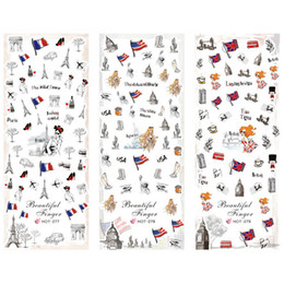 Drapeaux à ongles en Ligne-3 PACKS / LOT NATIONAL DE DRAPEAU LIBERTY STATUE NOUS UK FRANCE NAIL TATTOOS STICKER