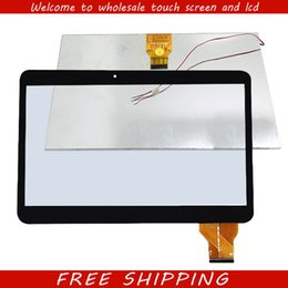 "Wholesale Tft Lcd Tablet - Wholesale- New 10.1"" inch touch screen panel digitizer glass lcd display for RoverPad TESLA 10.1 3G Tablet PC TFT Replacement Panel Parts"