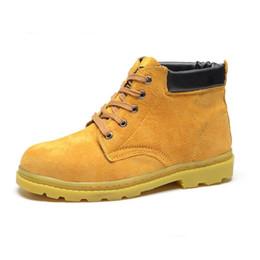Distribuidores Zapatos Los De Trabajan Descuento Hombres Amarillos OrwzqaO